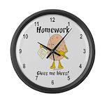 Homework Large Wall Clock