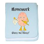 Homework baby blanket