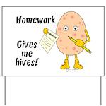 Homework Yard Sign