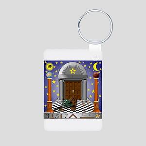 King Solomon's Temple Aluminum Photo Keychain