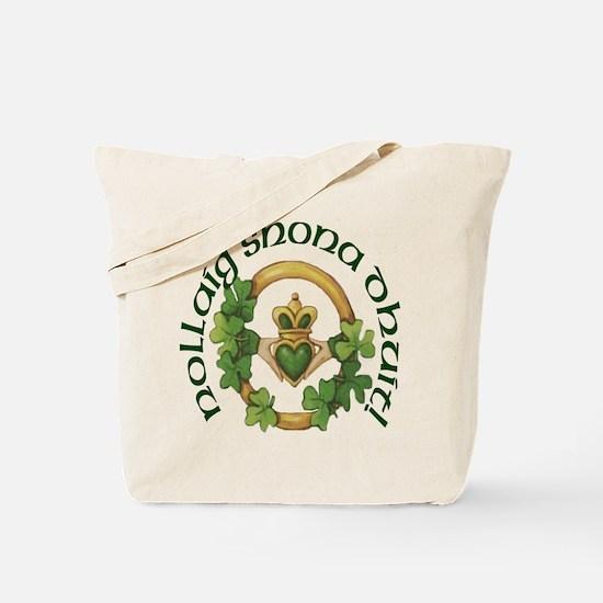 Gaelic Greetings Irish Claddagh Tote Bag