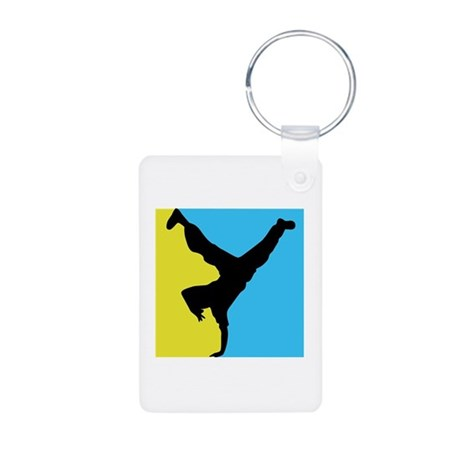 Breakdance Aluminum Photo Keychain