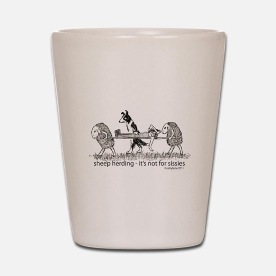Sheep Herding Shot Glass