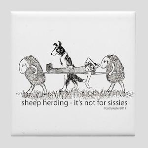 Sheep Herding Tile Coaster