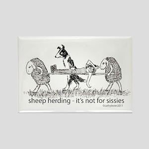 Sheep Herding Rectangle Magnet
