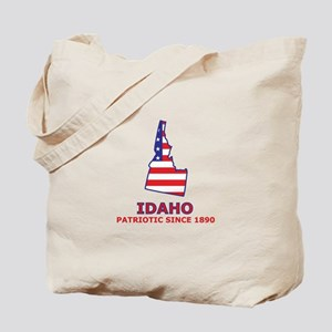 ID USA Flag Map 2 Tote Bag