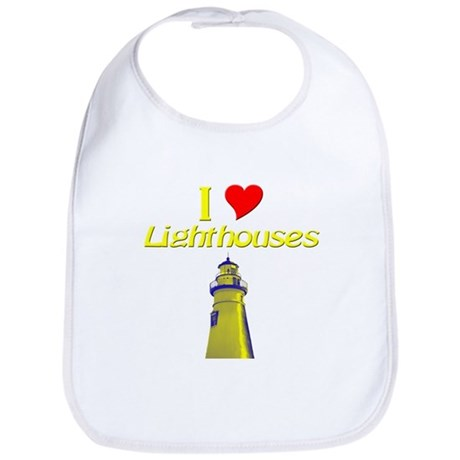 I love Lighthouses Bib