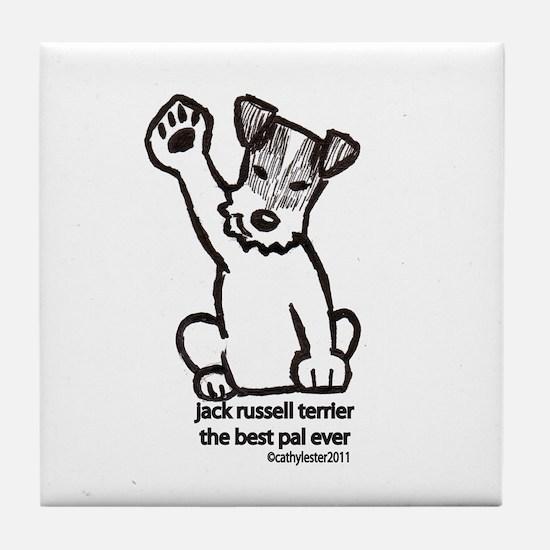 Jack Russell Terrier Pal Tile Coaster
