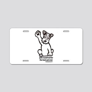 Jack Russell Greeting Aluminum License Plate