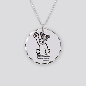 Jack Russell Greeting Necklace Circle Charm