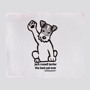 Jack Russell Greeting Throw Blanket