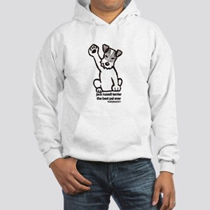 Jack Russell Greeting Hooded Sweatshirt