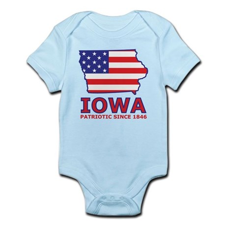 IA USA Flag Map 2 Infant Bodysuit
