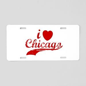 I LOVE CHICAGO SHIRT T SHIRT Aluminum License Plat