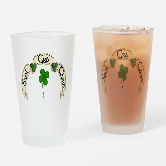 Life, Love, Laughter Drinking Glass