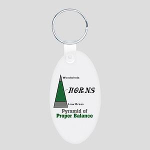 Proper Balance Aluminum Oval Keychain