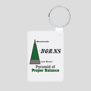 Proper Balance Aluminum Photo Keychain