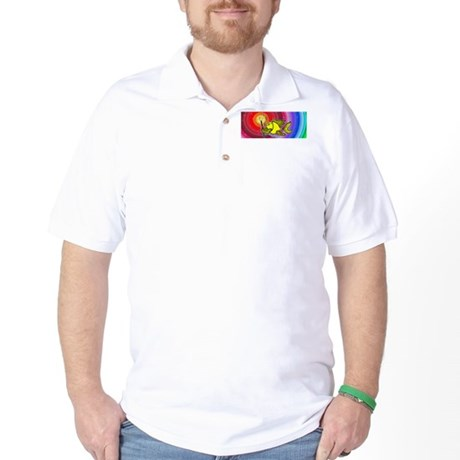 Make a wish fish Fireworks Golf Shirt