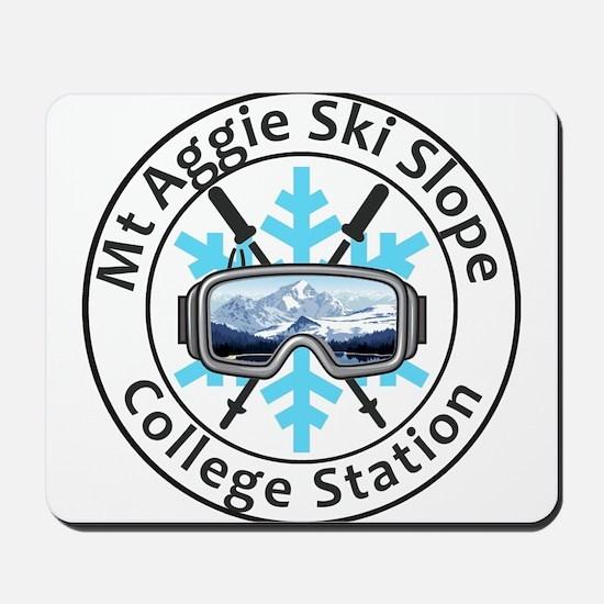 Mt Aggie Ski Slope - College Station - Mousepad