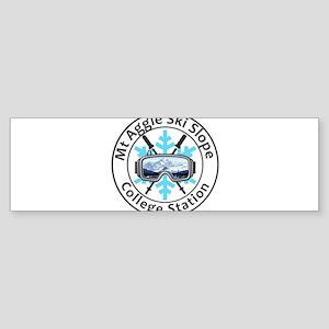 Mt Aggie Ski Slope - College Stat Bumper Sticker