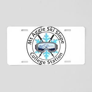 Mt Aggie Ski Slope - Coll Aluminum License Plate