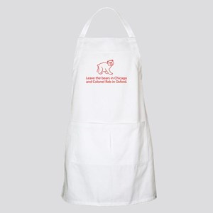 No Bear Mascot Apron