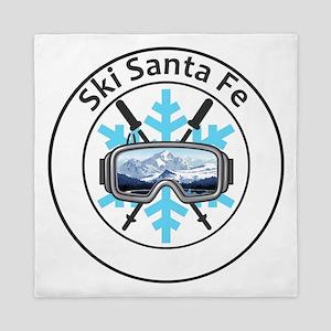 Ski Santa Fe - Santa Fe - New Mexico Queen Duvet