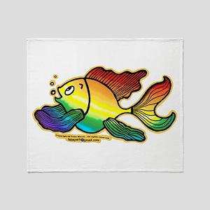 Rainbow Fish Throw Blanket