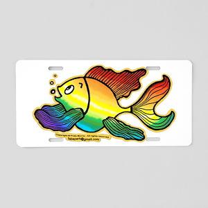 Rainbow Fish Aluminum License Plate