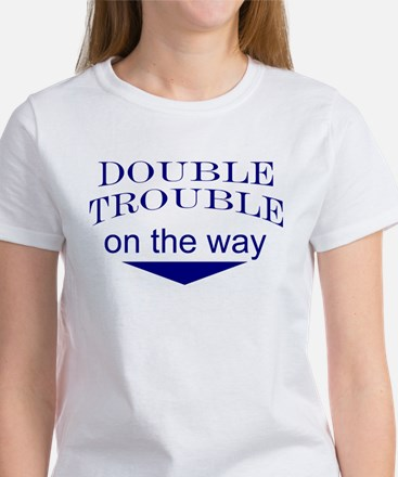 Double trouble on the way 2 Women's T-Shirt