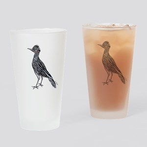 cool desert roadrunner Drinking Glass