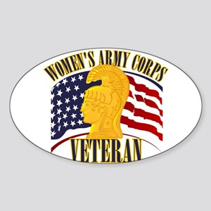 WAC Veteran Sticker (Oval)