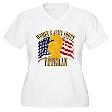 WAC Veteran Women's Plus Size V-Neck T-Shirt
