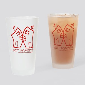 HOT PROPERTY , B-L-DING Red Drinking Glass