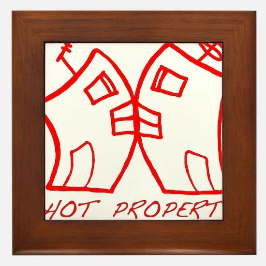 HOT PROPERTY , B-L-DING Red Framed Tile