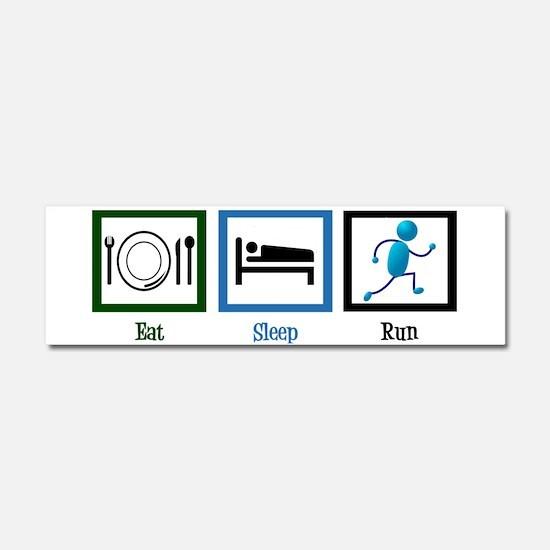 Eat Sleep Run Car Magnet 10 x 3