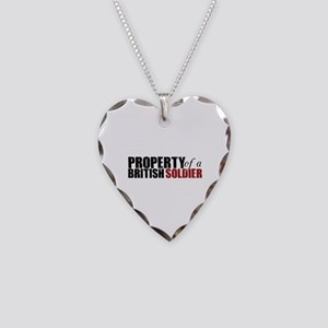Property of a British Soldier - Necklace Heart Cha