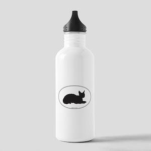 Devon Rex Silhouette Stainless Water Bottle 1.0L