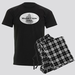 Maine Coon Dad Men's Dark Pajamas