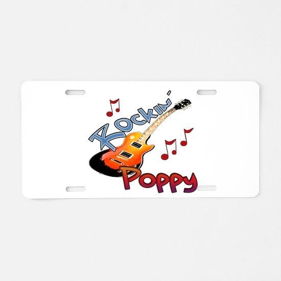 ROCKIN POPPY Aluminum License Plate