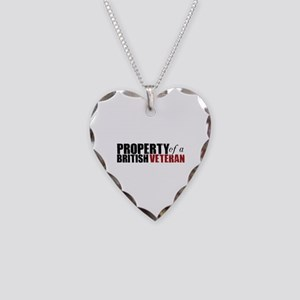 Property of a British Veteran - Necklace Heart Cha