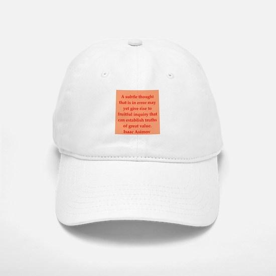 Isaac Asimov quotes Baseball Baseball Cap