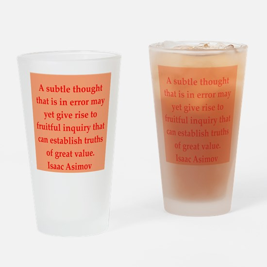 Isaac Asimov quotes Drinking Glass