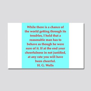 H. G. Wells quotes Car Magnet 20 x 12