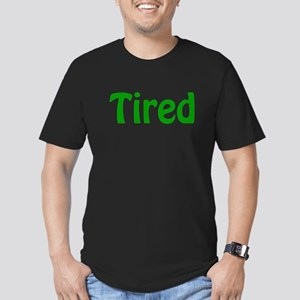 Tired Men's Fitted T-Shirt (dark)