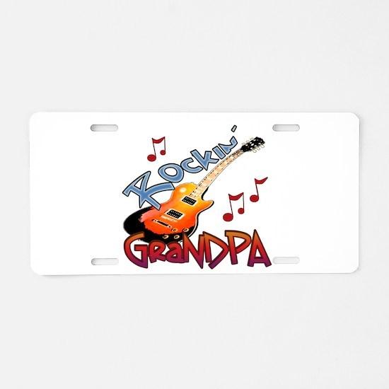 ROCKIN GRANDPA Aluminum License Plate