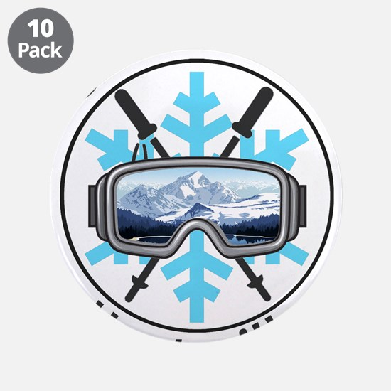"Snowbasin - Huntsville - U 3.5"" Button (10 pack)"