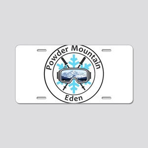 Powder Mountain - Eden - Aluminum License Plate