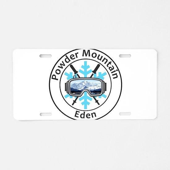 Powder Mountain - Eden - Aluminum License Plate
