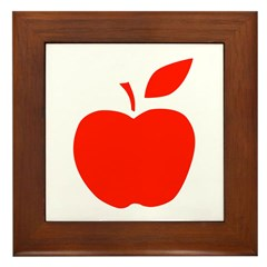 Red Apple Framed Tile